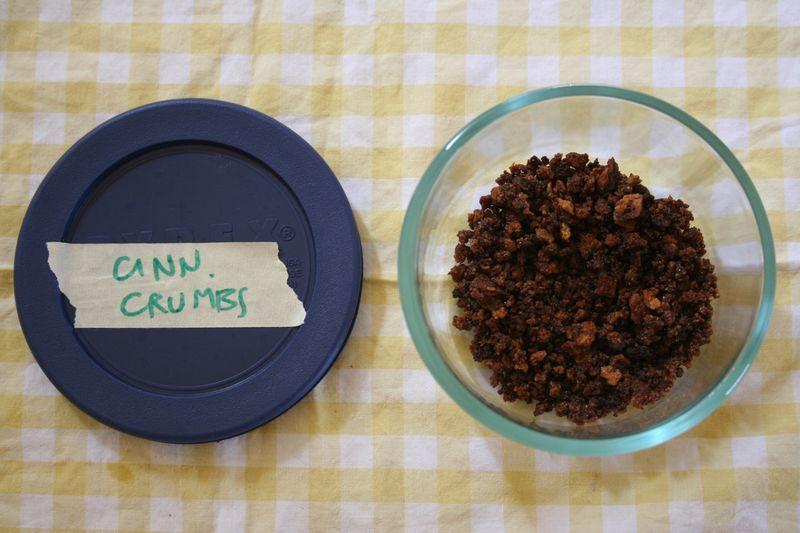 35 cinnamon crumbs